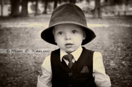 Handsome Little Guy & a Fedora Hat