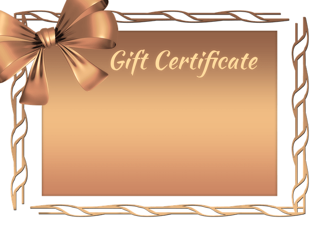 Få e-handlare har presentkort på webben, bild på ett presentkort med texten Gift Certificate