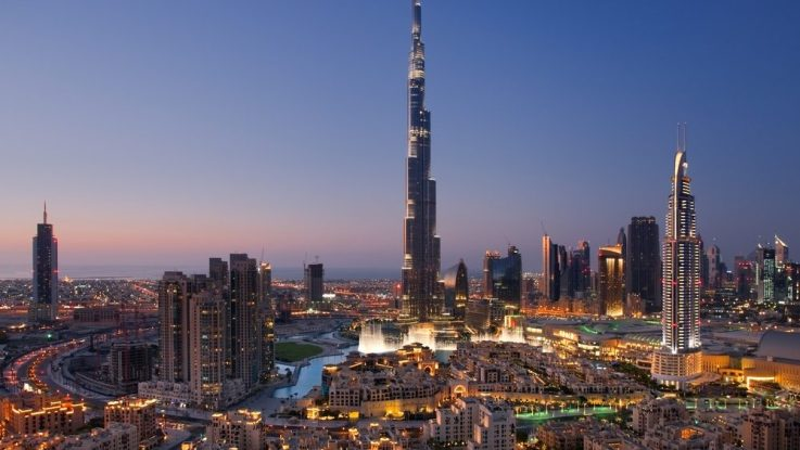 "Burj-Khalifa, ""Greeting From United Arab Emirates"""