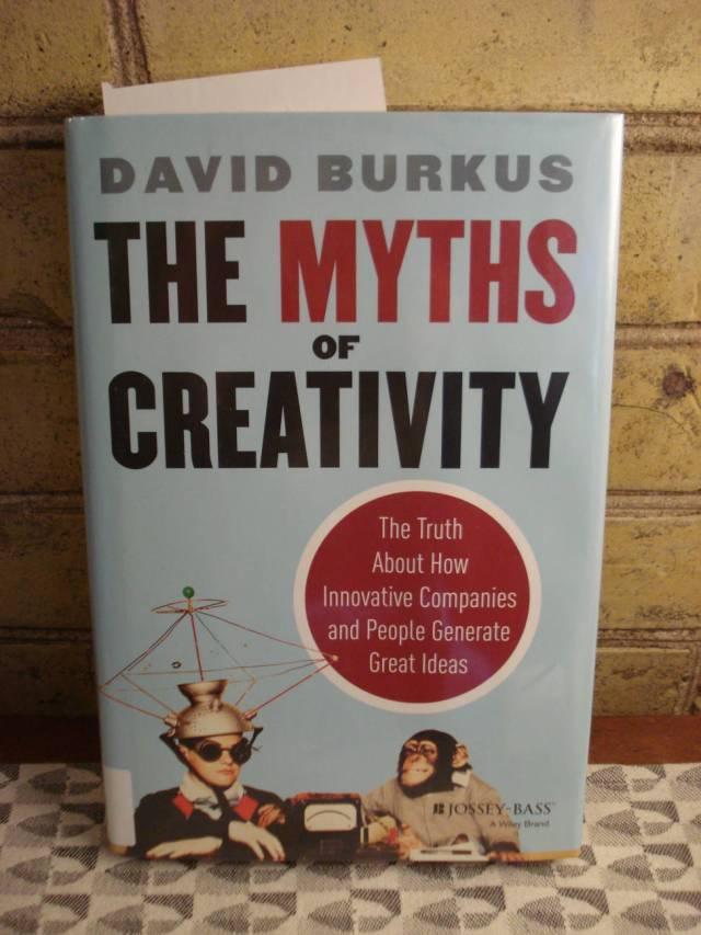 "Book: ""The Myths of Creativity"" by David Burkus."