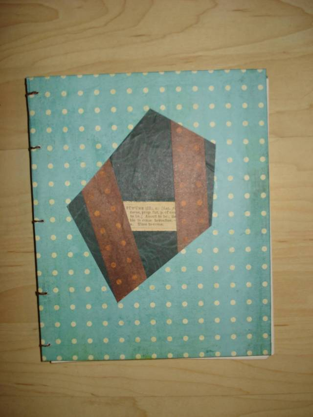 Handmade blank journal by Mary Warner, December 2015.