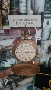 Nathan Richardson's pocket watch from the 1800s, Morrison County Historical Society collections.