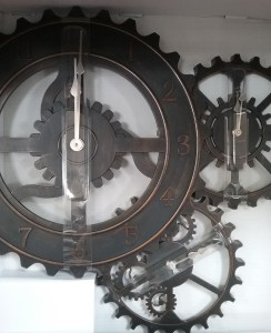 Clock with 3 gears, 2018.