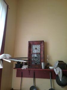 Clock at Oliver Kelley Farm, MN, 2018.