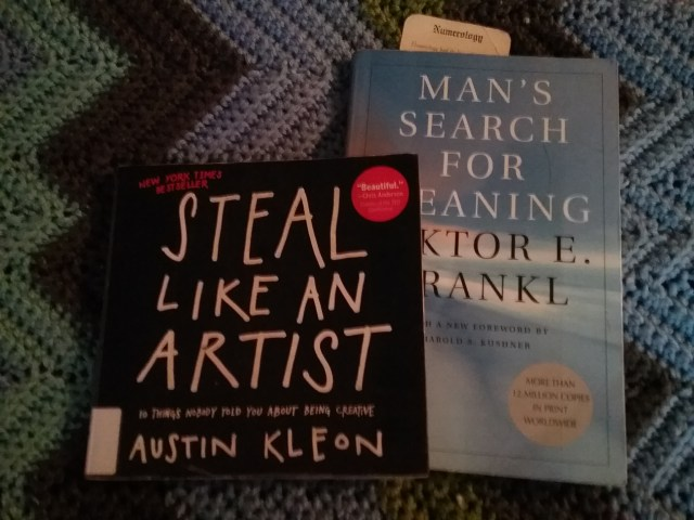 """""""Steal Like an Artist"""" by Austin Kleon and """"Man's Search for Meaning"""" by Viktor Frankl, 2018."""