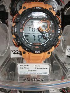Orange Armitron wristwatch, 2018.