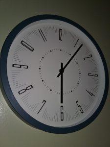 A simple, tidy clock, 2018.