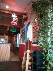 Can you spot the clock in this image? This was taken at Bravo Burrito in St. Cloud, MN, 2019. Bravo's has marvelous burritos. Check it out if you are in the area and hungry.