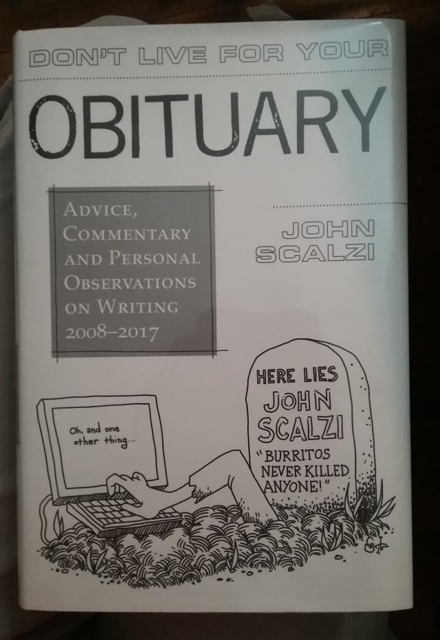 """Book: """"Don't Live for Your Obituary,"""" by John Scalzi."""