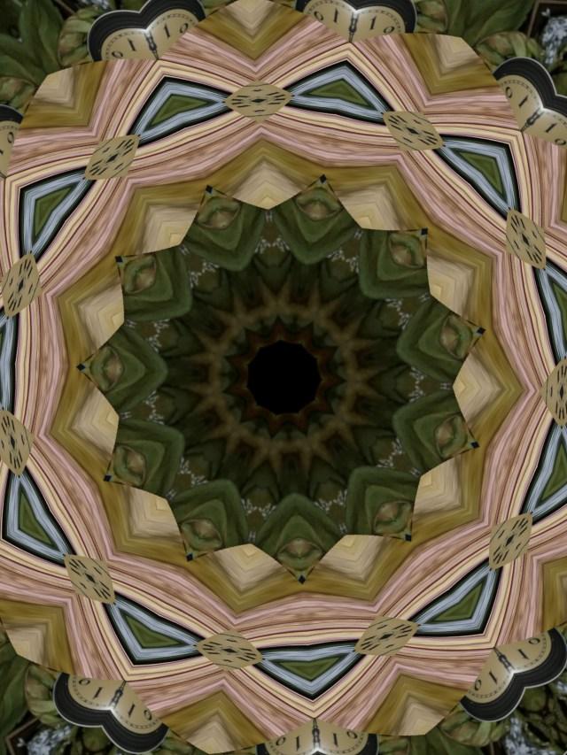 Rose Clock Mandala by Mary Warner, August 2020.
