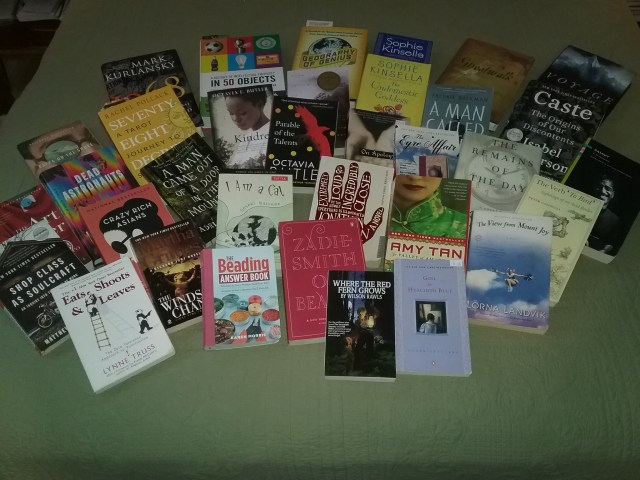 Books I received for Christmas 2020 and those I've purchased while taking my paralegal certificate course, all waiting to be read. April 12, 2021.