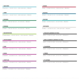 colors and categories