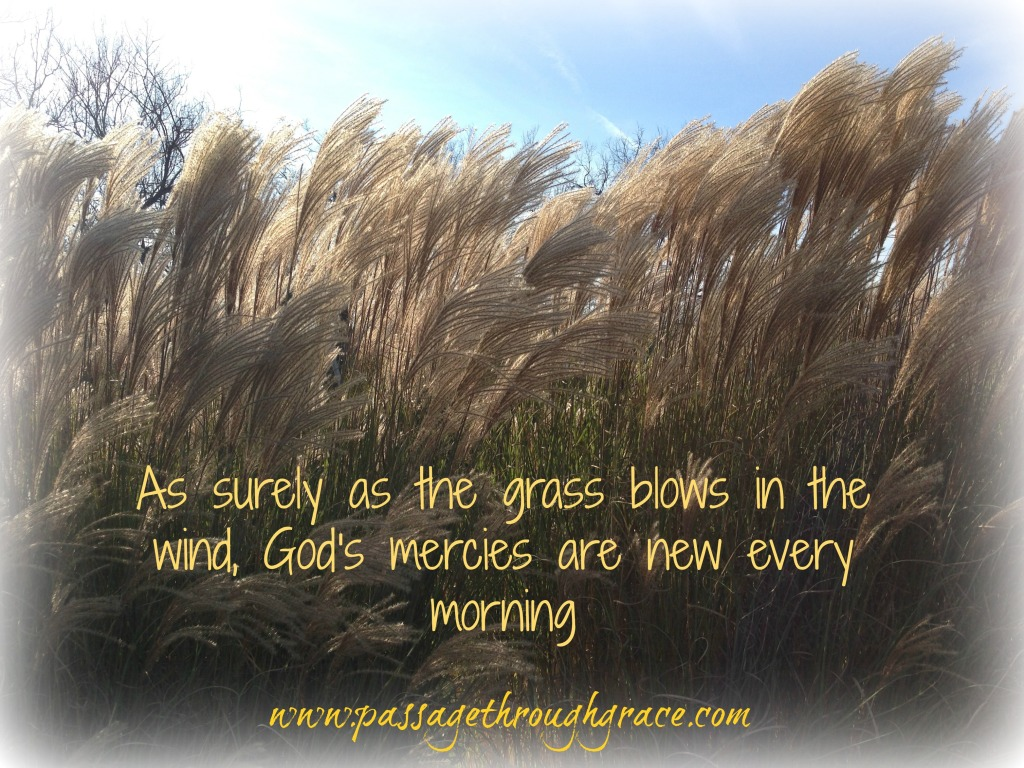 mercies are new every morning