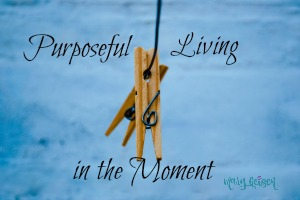 Purposeful Living in the Moment