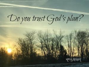 Do You Trust God's Plan?