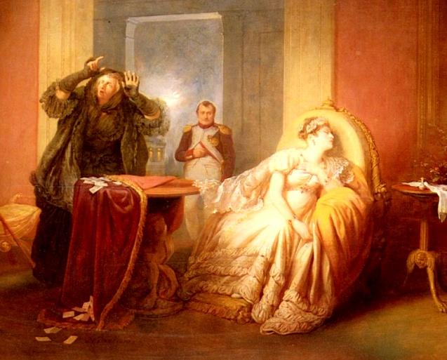 Danhauser: Neapoleon & Josephine with the Card Reader