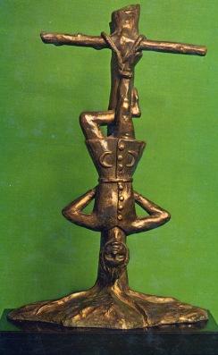 Original Hanged Man Bronze sculpture by Eden Gray