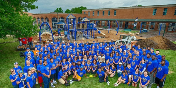 St. Louis Rams Marygrove Playground Build