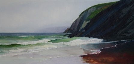 coumeenoole beach dingle . autumn 08. oils.