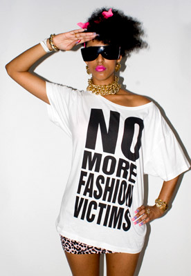 "Katharine Hamnett, Slogan T-Shirt       ""No More Fashion Victims"""