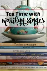 Host a creative Poetry tea time and write reverso poems in the style of Marilyn Singer. Click here to find out more!