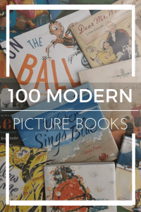 Click here for 100 Modern Picture Book titles from NotBefore7. Read some new, fun and updated titles!