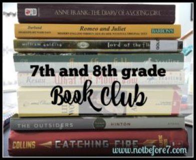 7th and 8th grade book club