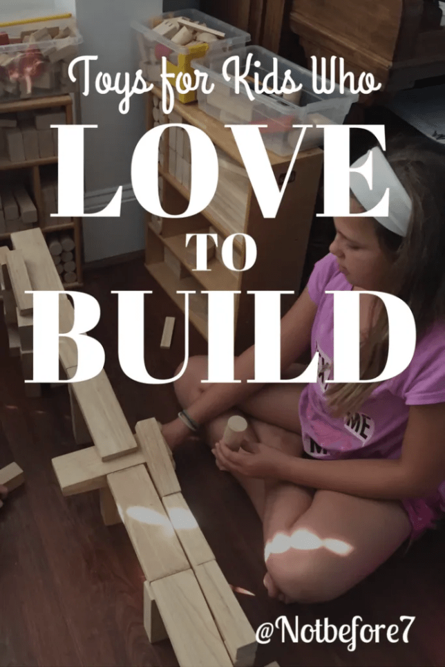 Building toys for kids who like to design, create, and build.