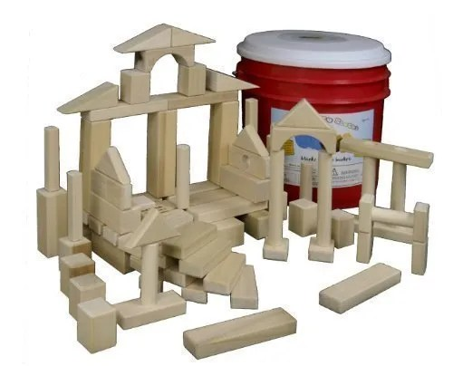 Building Toys - Natural Wood Blocks