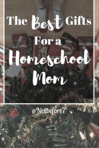 Fantastic list of gift ideas for the Homeschool Mom in your life