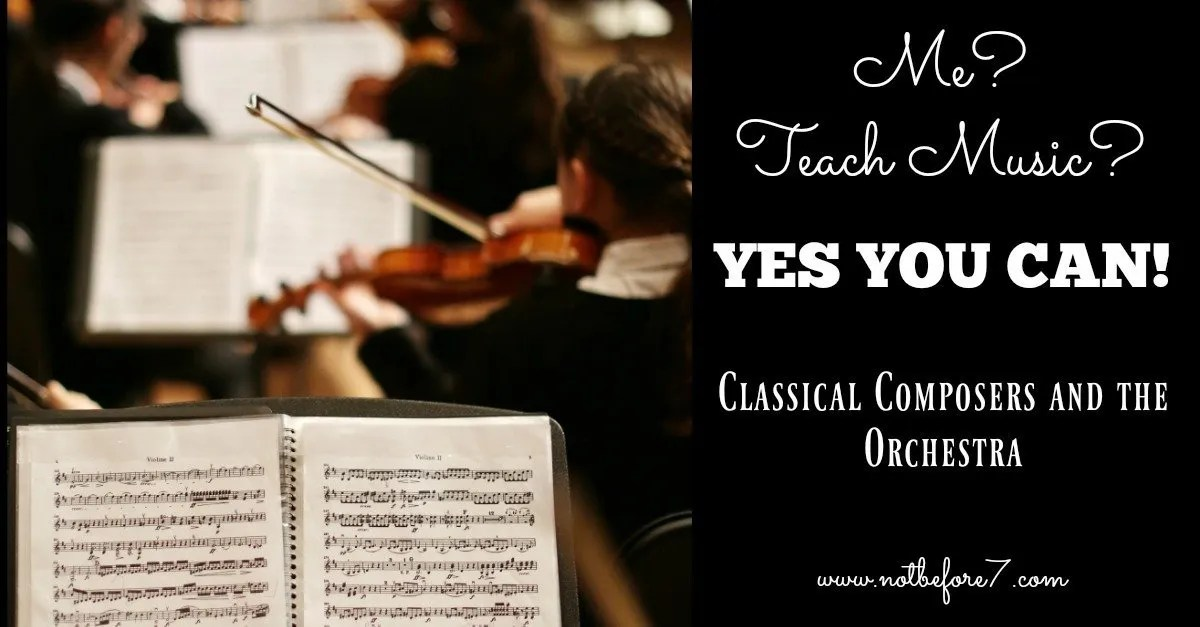 You are capable of teaching homeschool music to your kids. There are great books, videos and other resources available to equip you with everything you need to introduce your kids to classical composers and the orchestra.