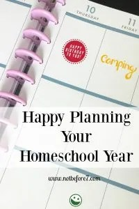 Combine the Happy PLanner with the Homeschool Planner by Pam Barnhill.