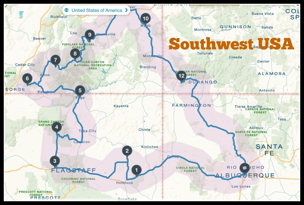 A complete guide to travel the Southwest USA with your family.