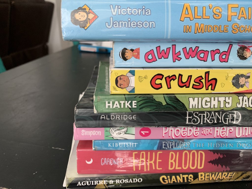 A list of graphic novels for your middle school child.