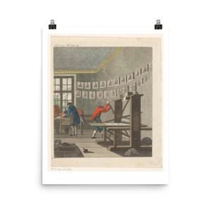 vintage printmaking poster