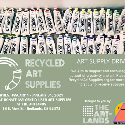 Recycled Art Supplies: Art Supply Drive
