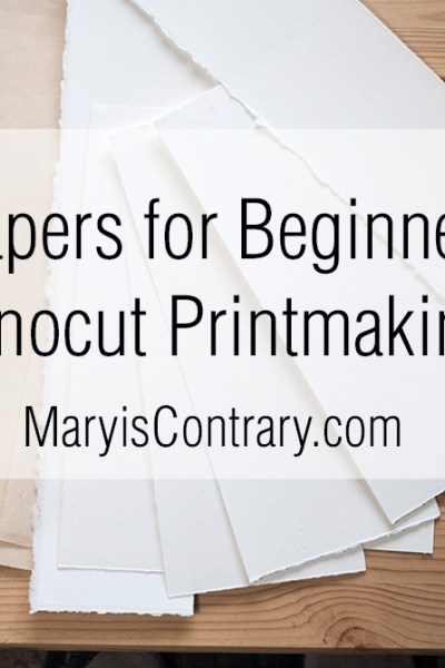 4 papers for Beginners linocut printmaking