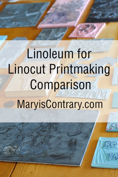 Linoleum for Linocut Printmaking Comparison Blog Post