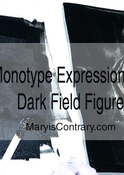 Monotype Expressonistic Dark Filed Nude Figure