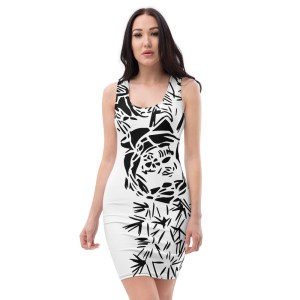 Cactus Bloom White Dress