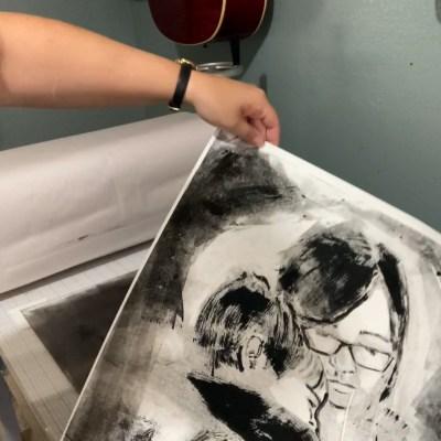 Monotype Portrait Printmaking with Plexiglass