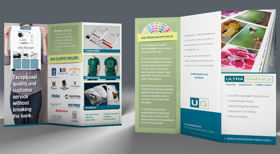 Ultragraphics Trifold Brochure Design
