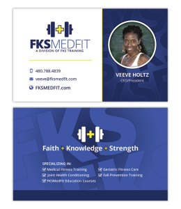 FKS MedFit Logo and Business Card