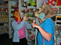 Ummmm...animal fight night or shopping silliness?