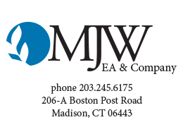 logo for MJW EA Madison, CT - tax simplification