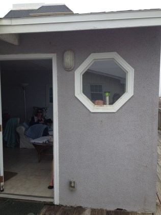 I kept trying to get a picture of that window, but the fiancee's dad kept putting things in the window just as I took the picture.