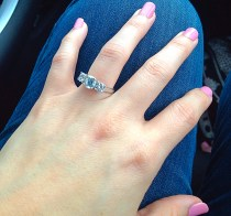 ... the first post-engagement picture. Sent to my mom and sister, of course. I'M ENGAGED!!!!!! <3