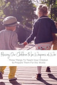 This world can be hard, and as a mama, I want to wrap my babies in bubble wrap. But Christ does not offer them bubble wrap, he offers them his armor. And mamas, guess who he's made drill sergeant? Great post on Three Things to Teach our Kids to Prepare them For this World! Found on MaryKathrynTiller.com. #motherhood #christian #christianmom #raisingarrows #baby #boy #girl #boymom