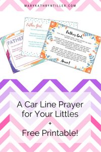 School is here, what better way to prepare our kids than to pray over them in the car line