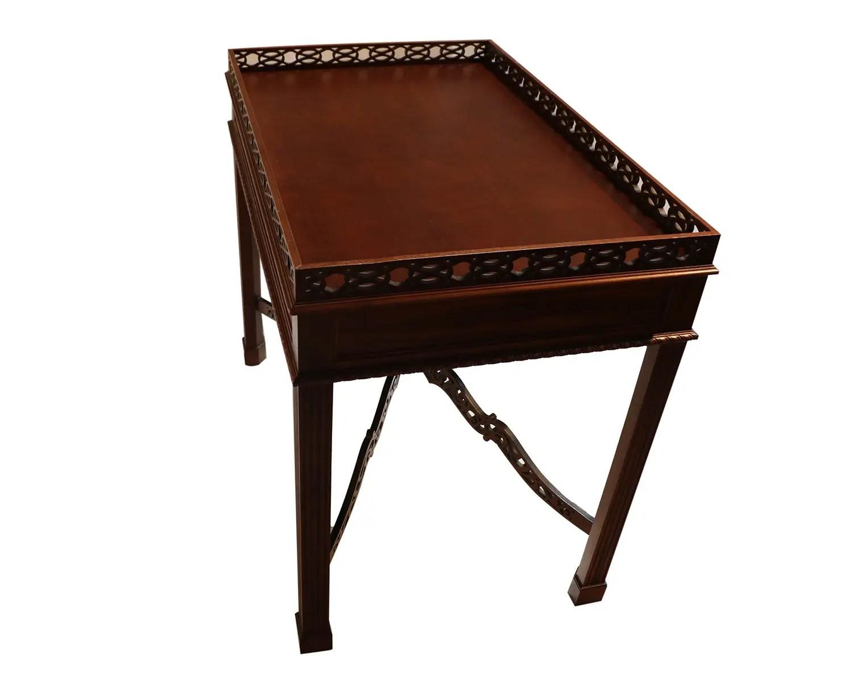 Kittinger Chippendale Style Mahogany Tea Table
